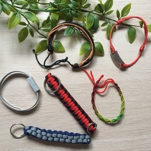 4 for$25 Bracelet/ keychain lot
